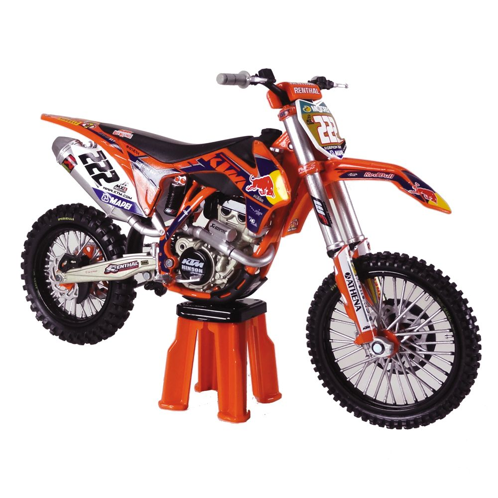 repliques motocross racetoys ktm 350 sx f a cairoli miniatures de motocross dual sport. Black Bedroom Furniture Sets. Home Design Ideas