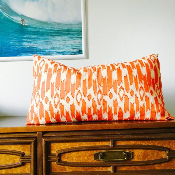 Apartments In Reno Oh: Mid-Century Modern Coral Orange Pillow Cover By