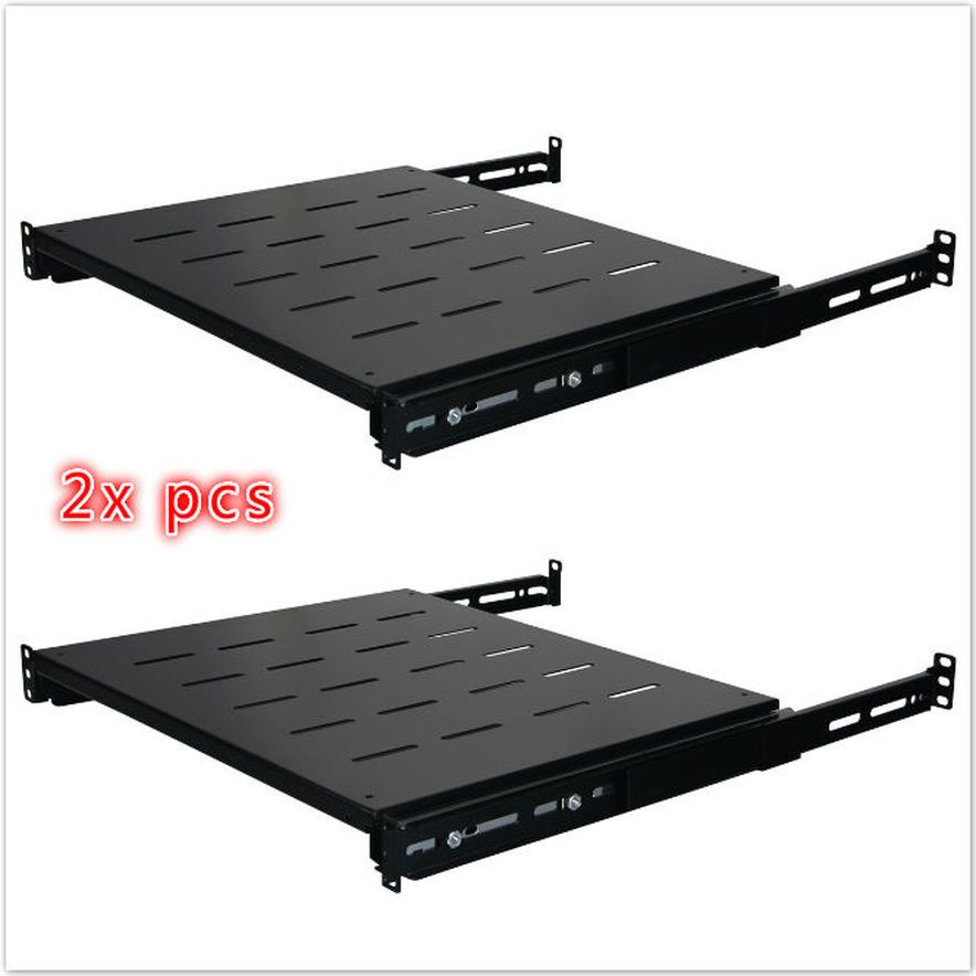 2x Sliding Rack Server Shelf Rack 1u 19 4 Post Rack Mount Adjustable 15 24 In 2020 Rack Shelf Garage Shoe Rack Sliding Shelves