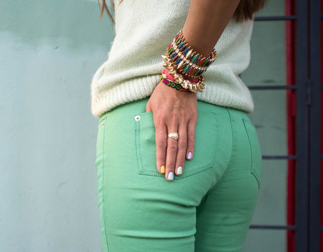 Love colored jeans!