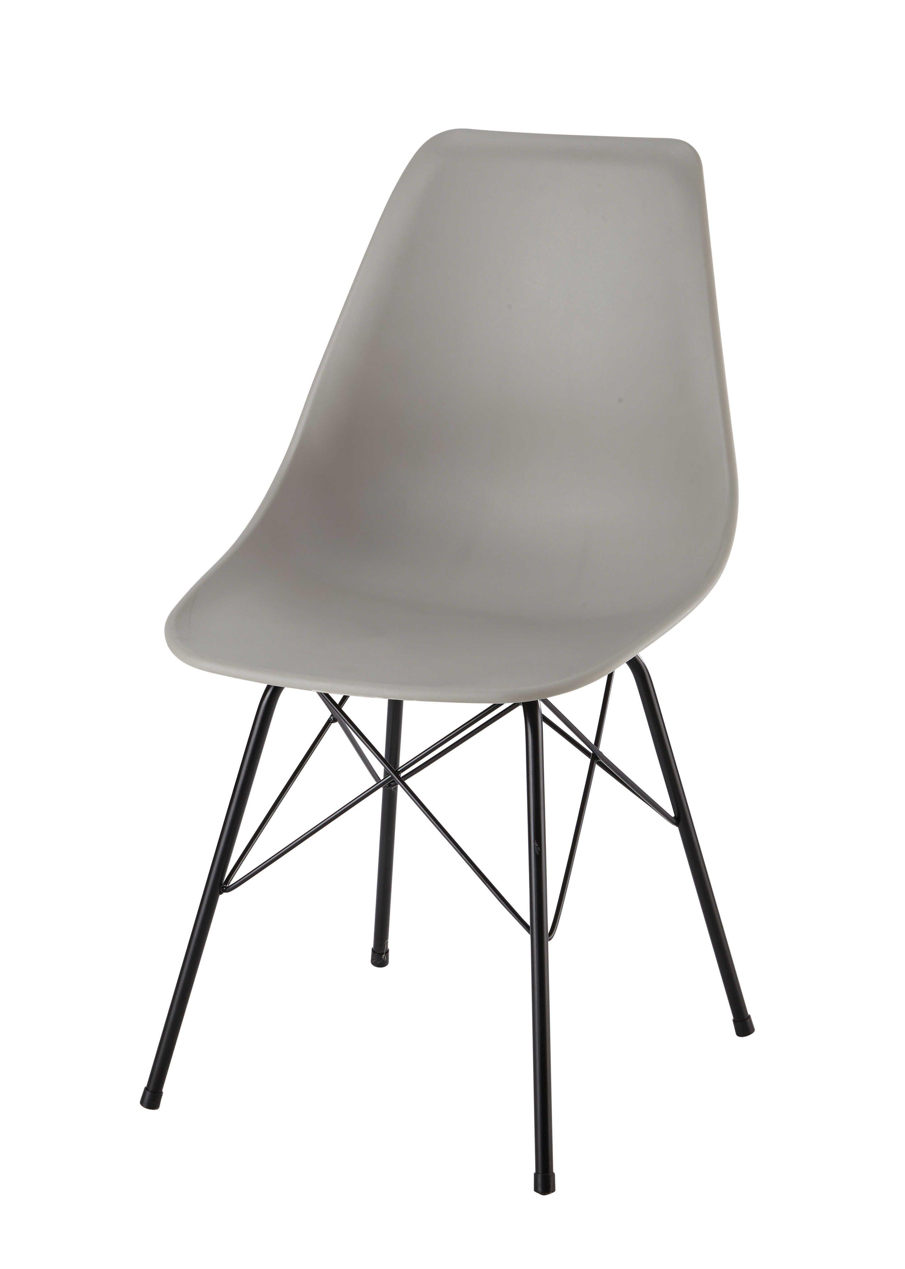 Stuhl aus Polypropylen und Metall, hellgrau Cardiff | Inspiration ...