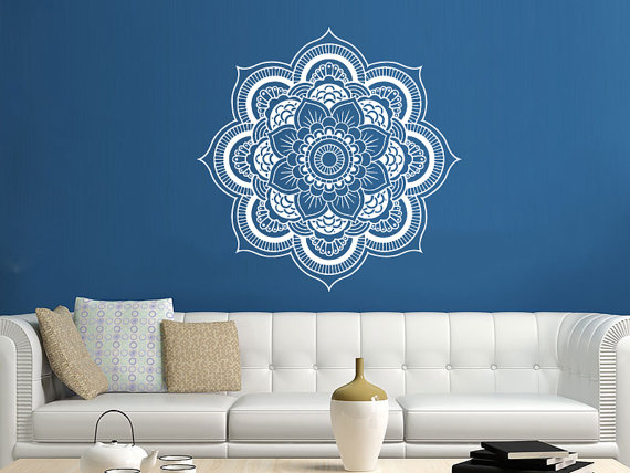 Mandala Wall Decal Yoga Studio Vinyl Sticker Decals Ornament Moroccan Pattern Namaste Lotus Flower Home Decor Boho Bohemian Bedroom Art ZX97 is part of Bohemian bedroom Art - policy ref shopinfo policies leftnav Please contact me via Etsy with any questions  I am happy to help ღღღ Thank you for visiting my store!