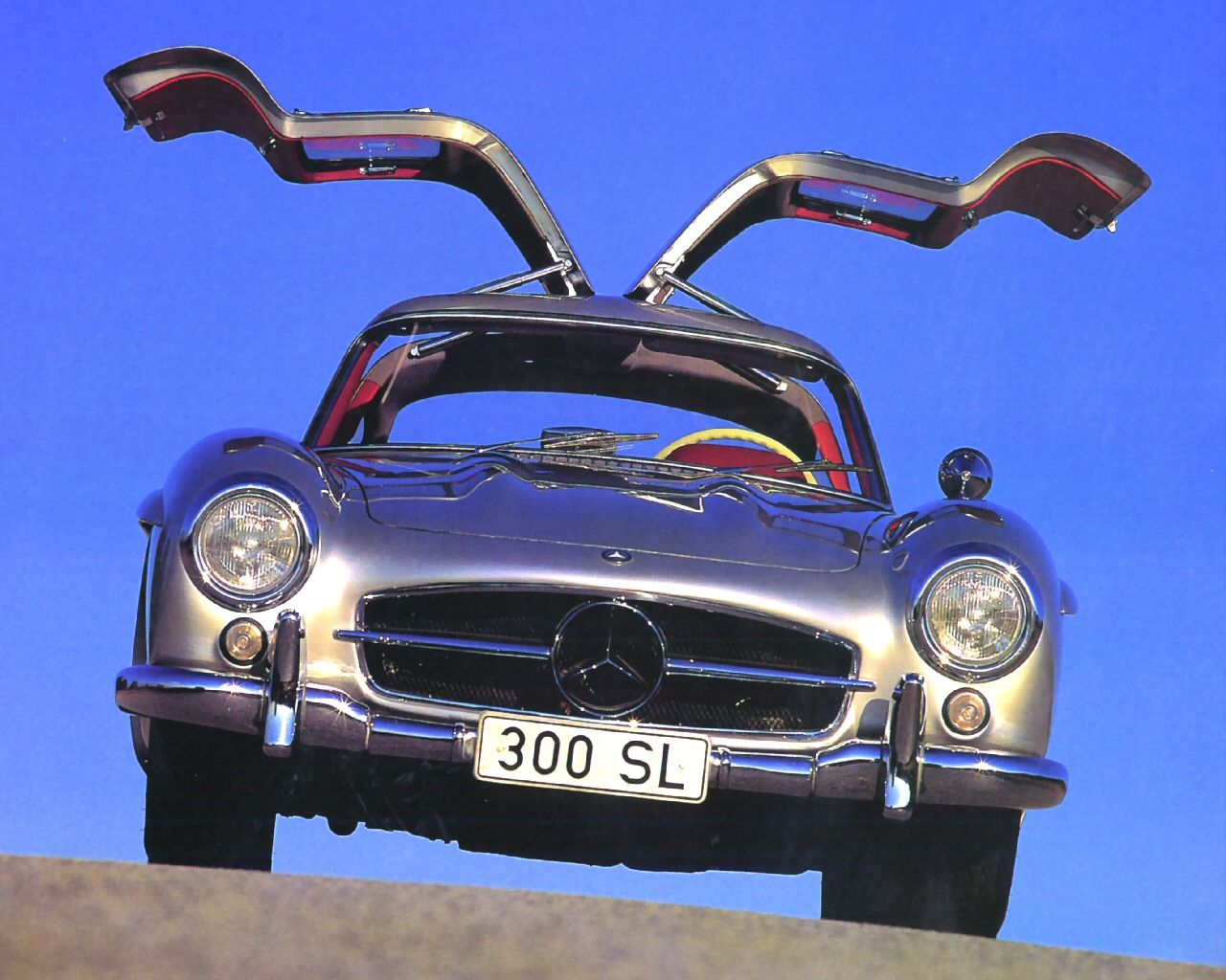 1955 mercedes benz 300sl gullwing coupe silver
