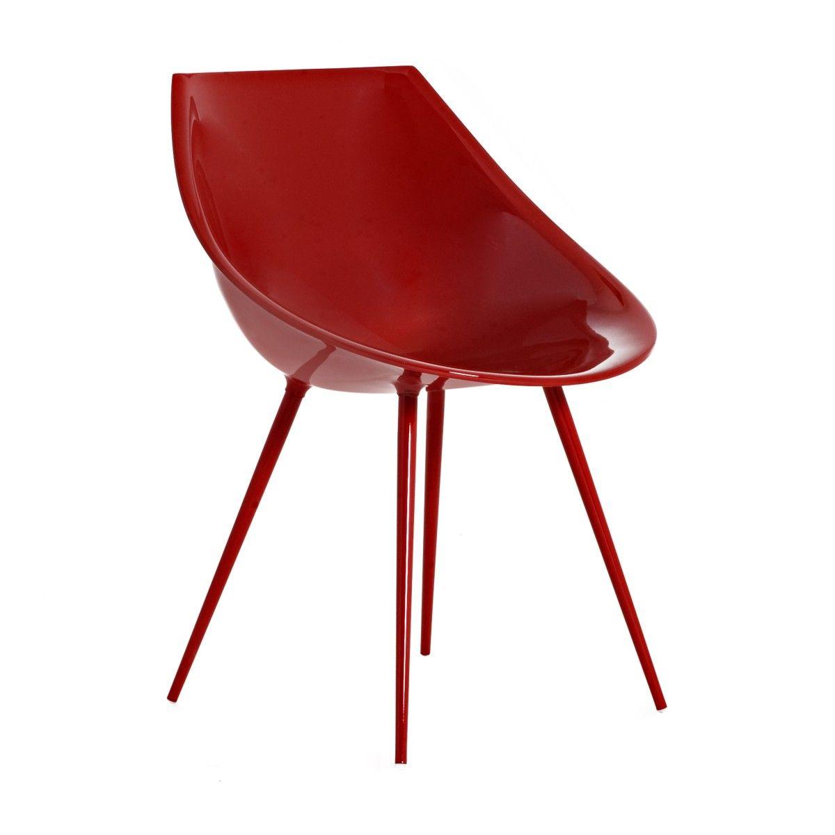 Sedia Lagò col. rosso design di Philippe Starck | DRIADE | Sedie ...