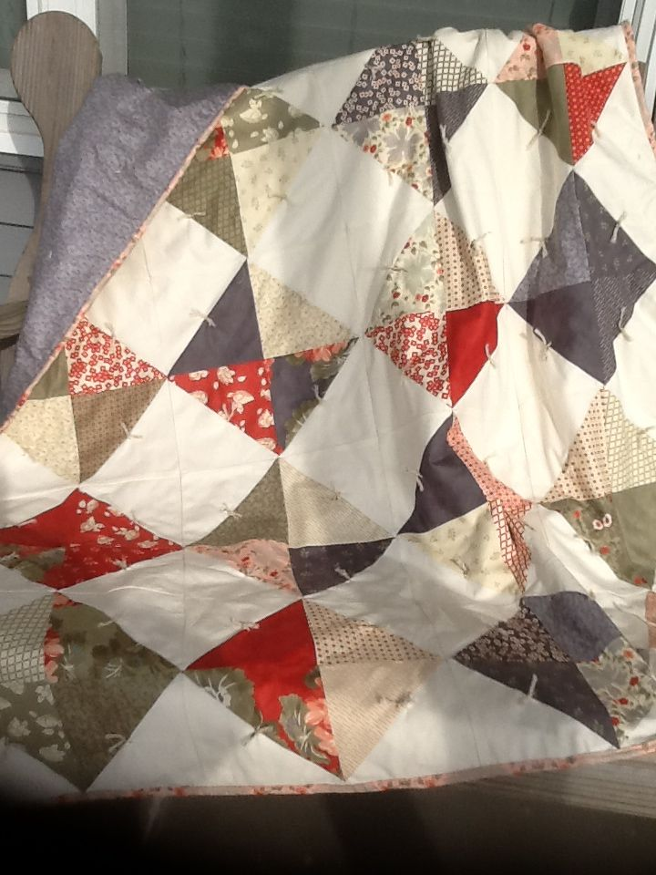 Front Porch Fabric By Moda Using Jenny Doans Half Square Triangle