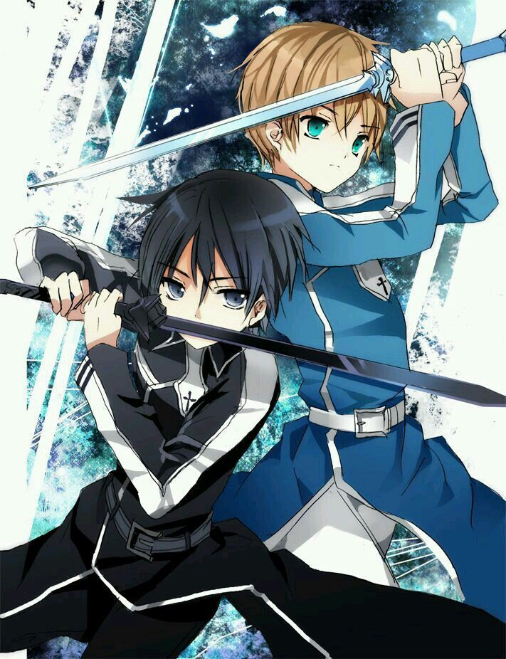 Kirito And Eugeo Sword Art Online Sao Alicization Sword Art Sword Art Online Kirito Sword Art Online Wallpaper