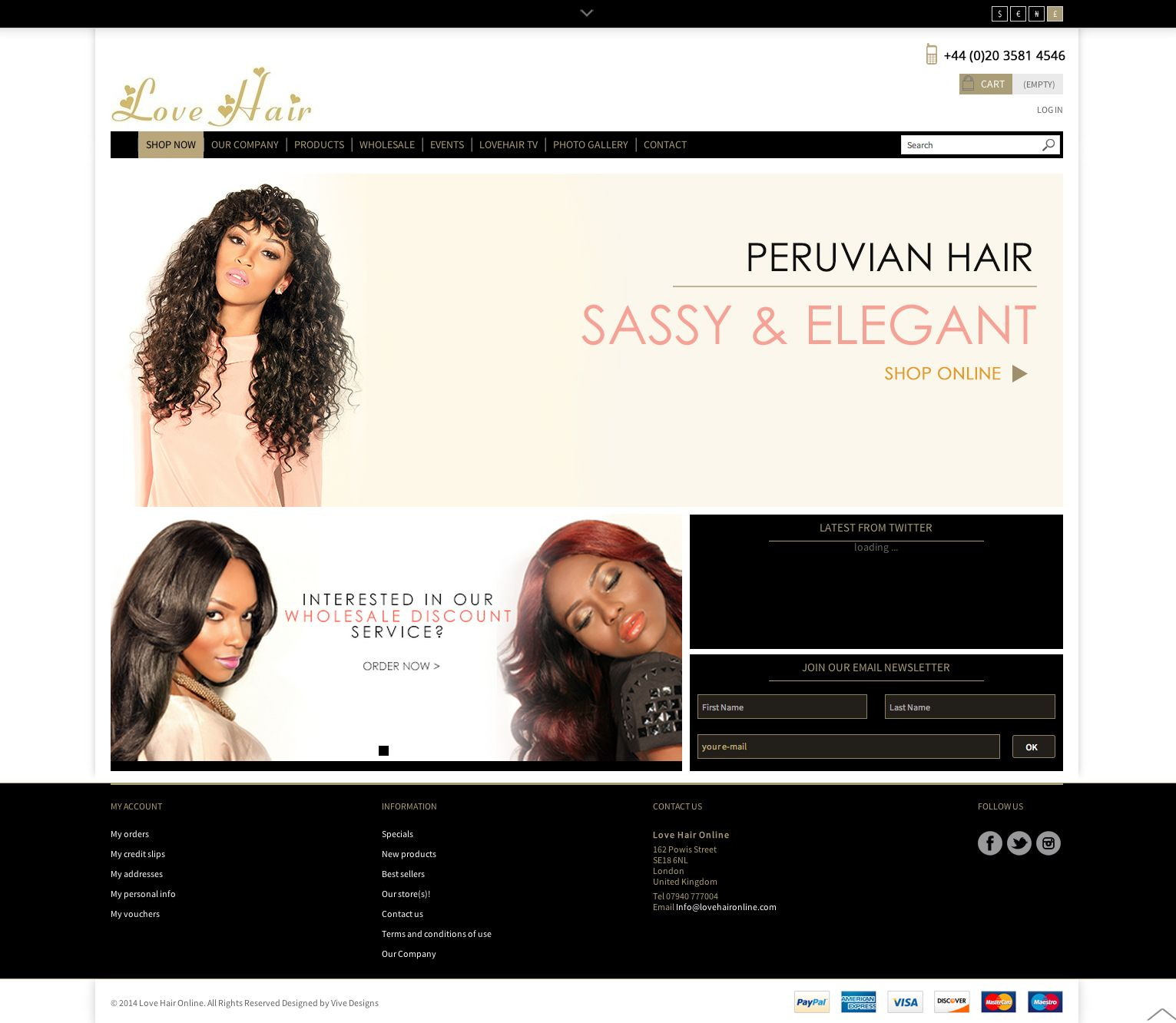 cool Hair Website Design E-commerce Design | hair | Flyer ...
