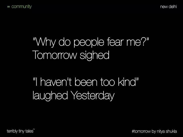 Nitya Shukla from New Delhi writes a #Community tale on #tomorrow…