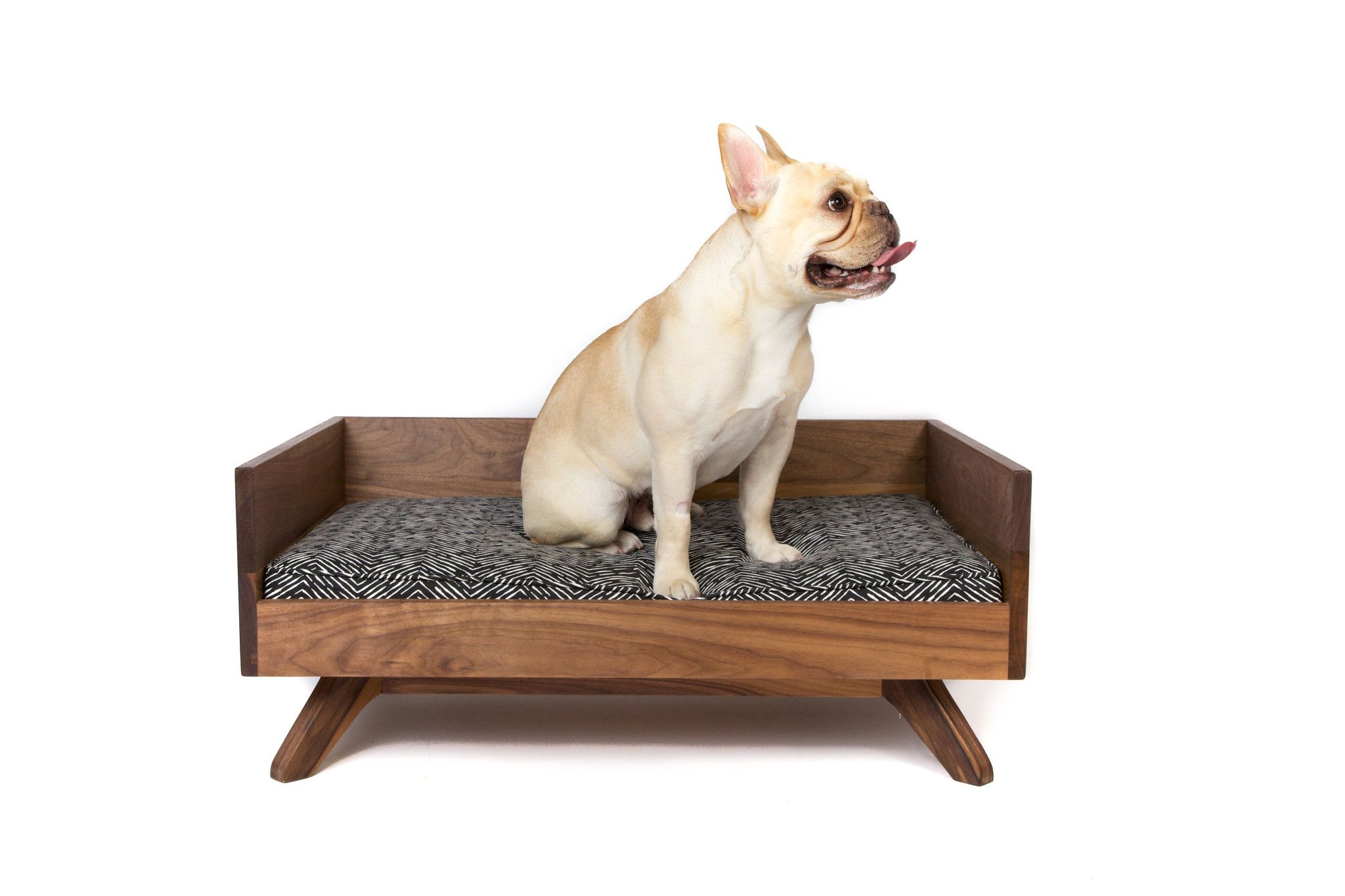 The Joey High Back Bed Is One Of Pup Kit S Most Por Pet Beds Made To Order Out Solid Wood In Toronto Ontario This Mid Century Modern Wi