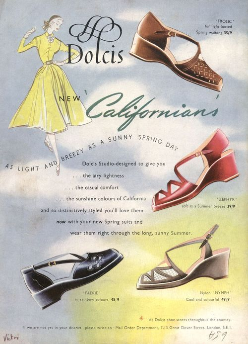 Vintage Footwear advertising poster reproduction. Antiquitäten & Kunst Dolcis shoes