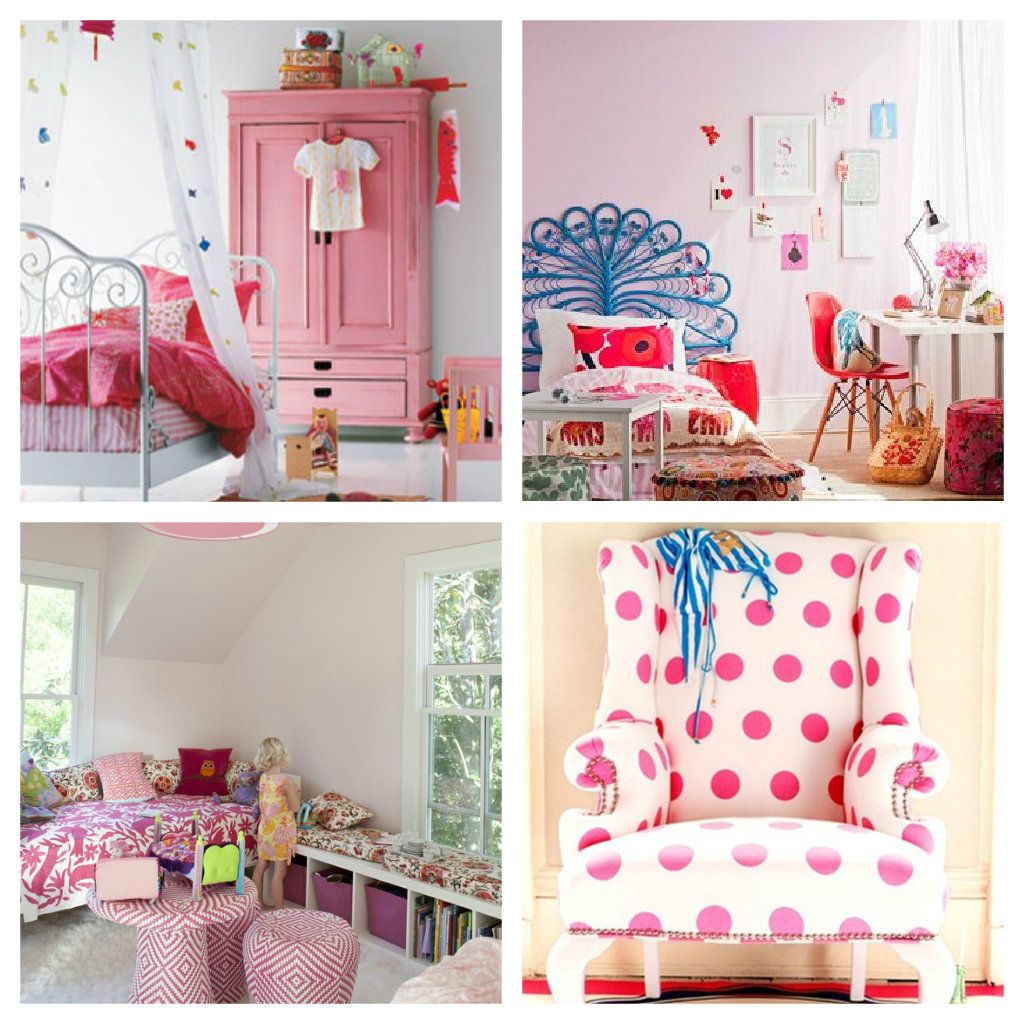 Collage Pink Rooms