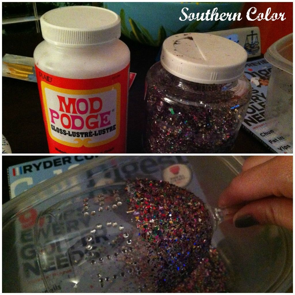 Southern Color Modge Podge Glitter Wine Glass Glitter