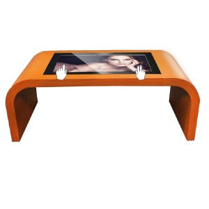 Wood Grain Touch Screen Coffee Table For Sale Floor Stand Digital - Touch screen coffee table for sale