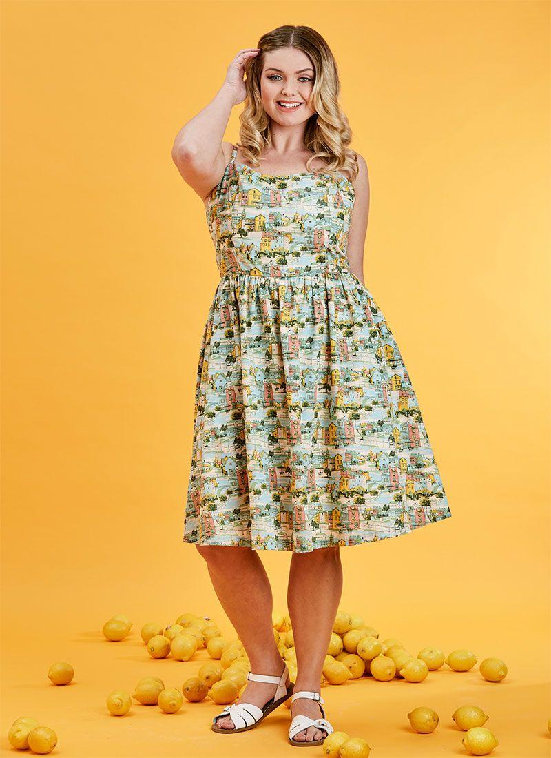 Sunday Provence Print Sun Dress Strappy Summer Dresses Sundress Dresses [ 1100 x 800 Pixel ]