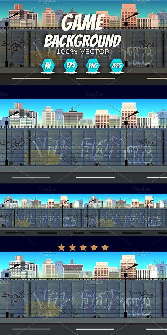 City 2d Background Background, Adobe illustrator art