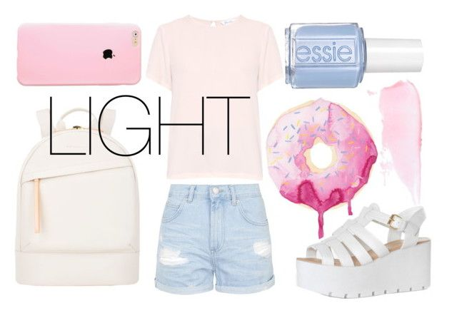 """""""LIGHT STYLE"""" by badga ❤ liked on Polyvore featuring Topshop, MaxMara, Want Les Essentiels de la Vie, Essie and Glamorous"""