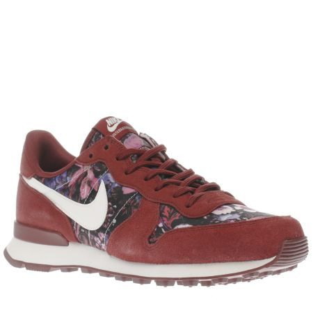 burgundy internationalist premium, part of the womens nike trainers range  available at schuh