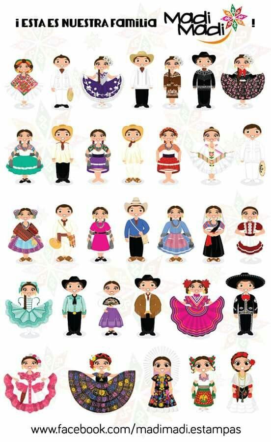 Folklor Mexicano | Trajes regionales de mexico, Trajes tipicos de ...