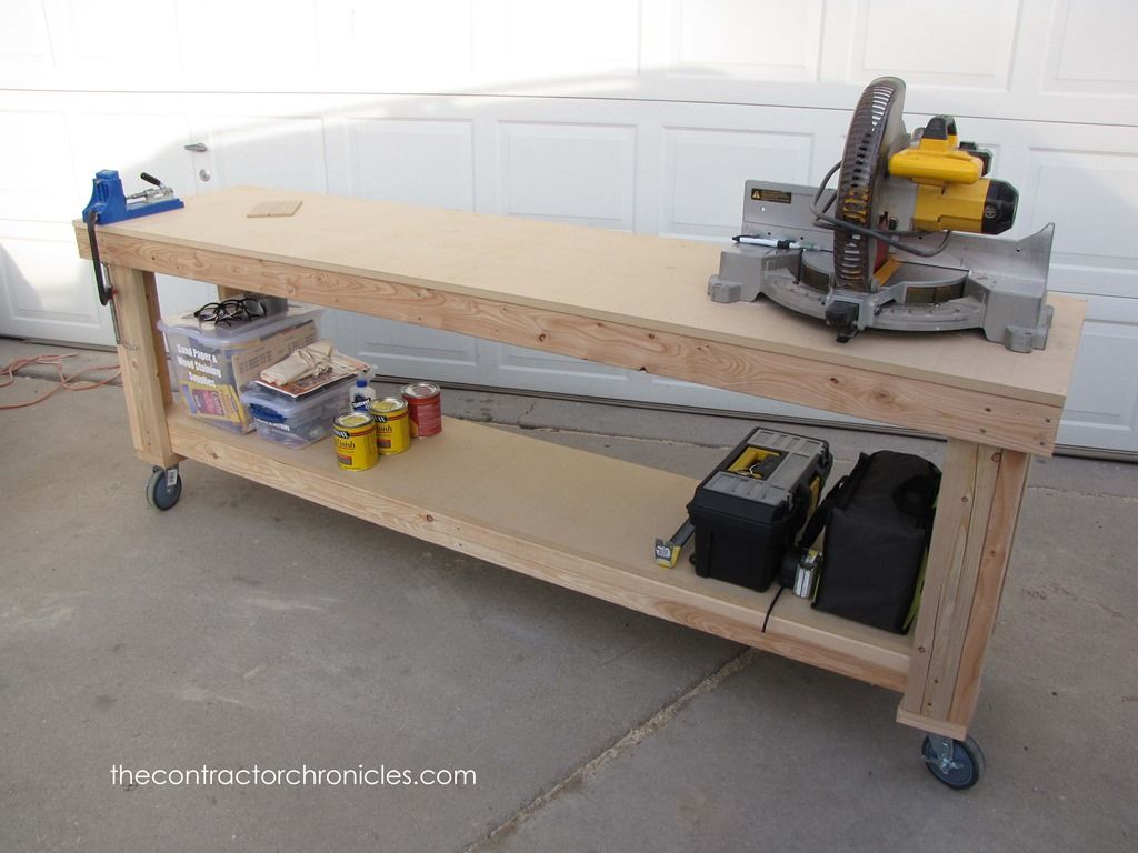 DIY Workbench on Wheels The Contractor Chronicles