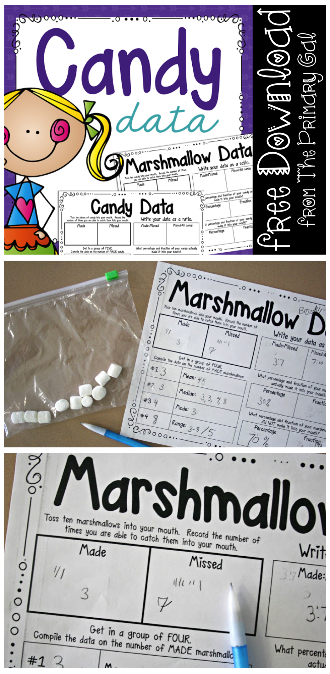 Marshmallow Data Review A Math Activity Your Students