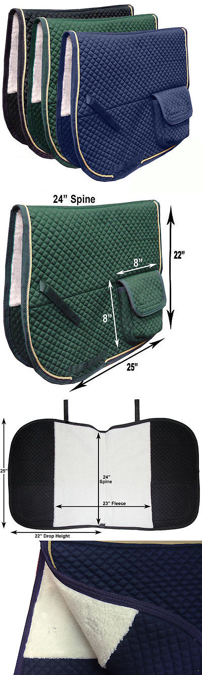 Saddle Pads 183377: Dressage Half Fleece Lined Horse English Saddle Pad With Pockets - Best Seller! -> BUY IT NOW ONLY: $49.95 on eBay!