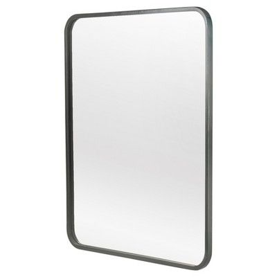 Metal Framed Wall Mirror 20 X 24 Black Threshold Products