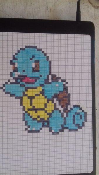 Carapuce Pixel Art Coloriage Pixel Art Coloriage Pixel