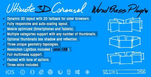 Ultimate 3D Carousel Wordpress Plugin   web banners
