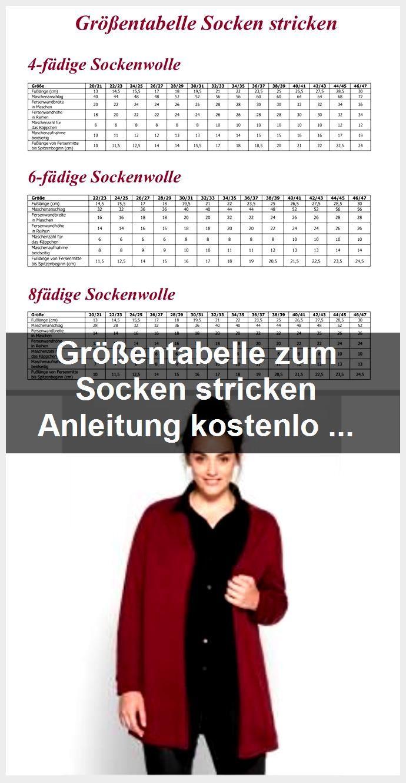 Photo of Größentabelle zum Socken stricken Anleitung kostenlos  #socken #sockenstricken…