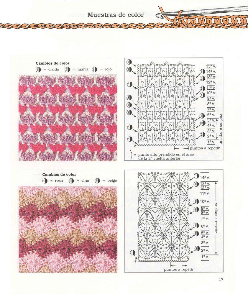 Puntos Diagramas Esquemas Patrones Crochet Ganchillo | Crochet 7 ...