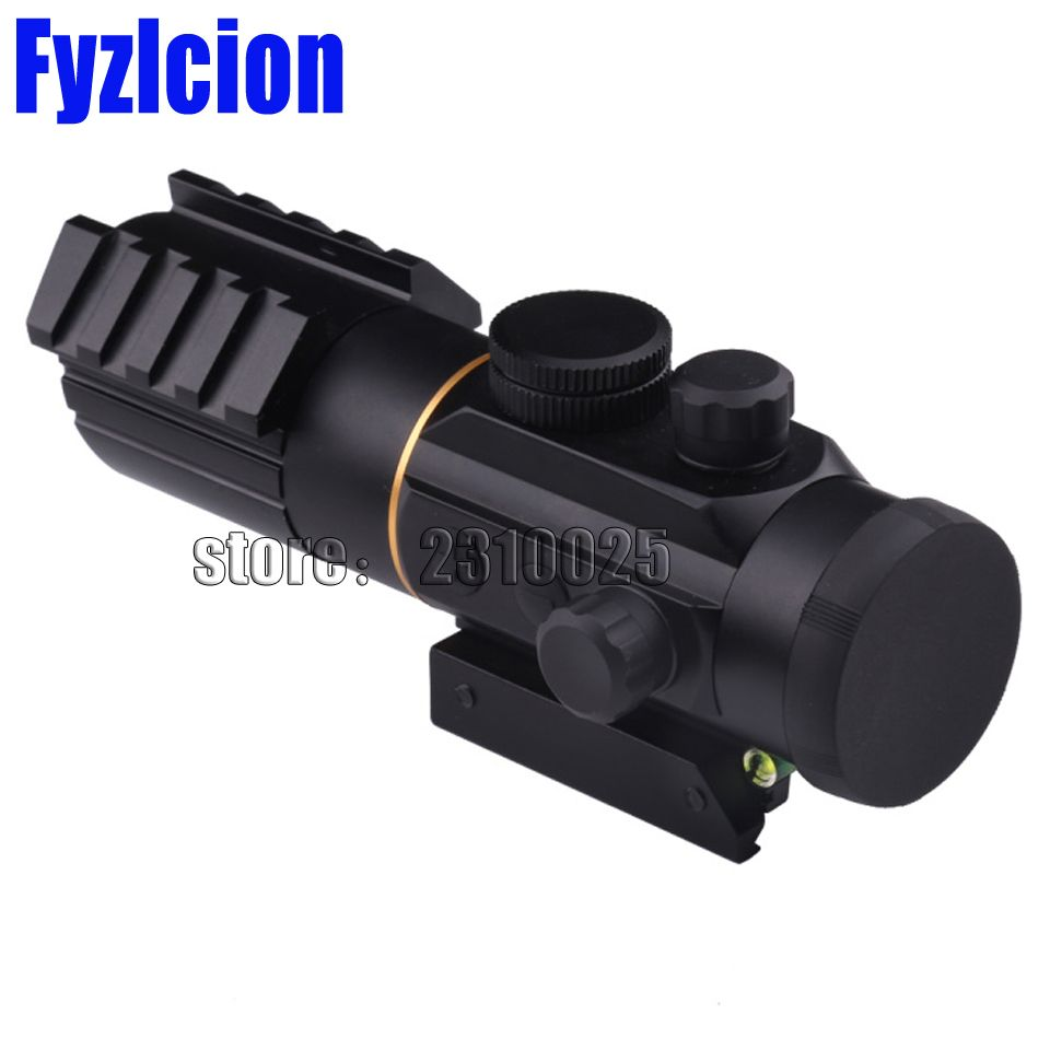 Tactical Optics Riflescope 3X42 Red Dot Sight Scope Fit Picatinny 11MM 20MM Rail