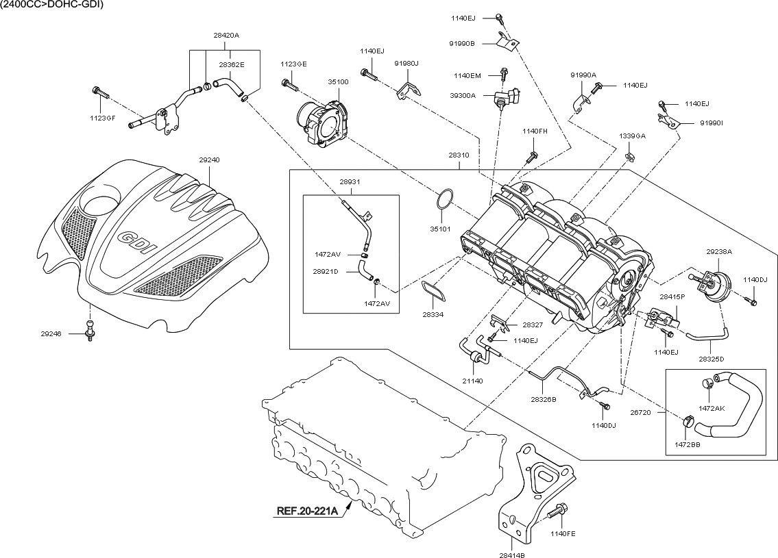 37 2011 Kia Sorento Parts Diagram Sg0c
