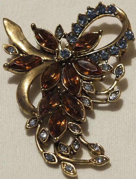 Kc Jewelry Mark : jewelry, Vintage, Signed, Jewelry, Brooch, Jewelry,, Brooch,, Fantasy