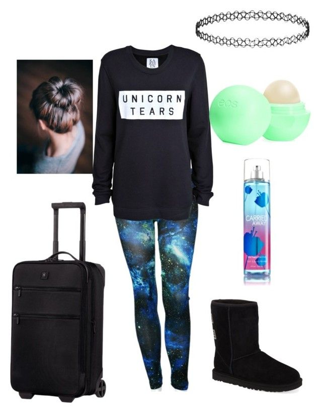 """JAY"" by theresreagan ❤ liked on Polyvore featuring Zoe Karssen, UGG Australia, Topshop, Victorinox Swiss Army and Eos"