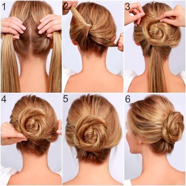 cómo hacer un peinado recogido en pasos simples - http://xn