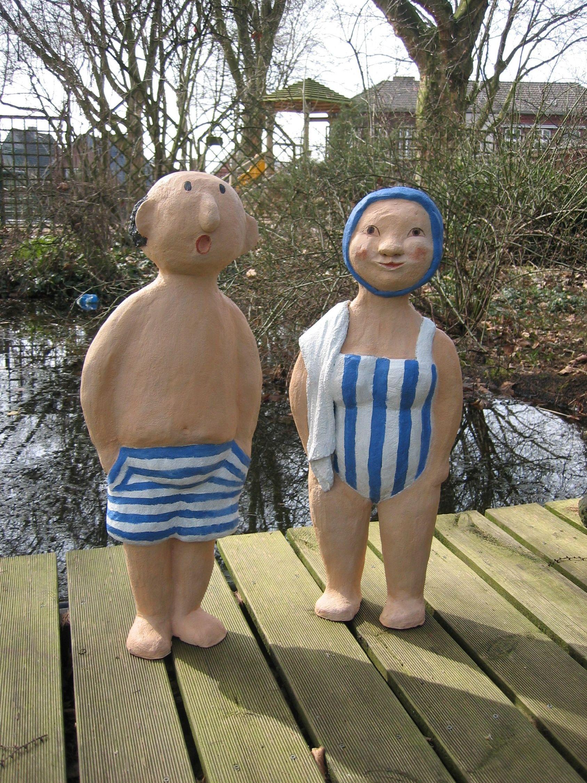 Betonfiguren Schwimmer