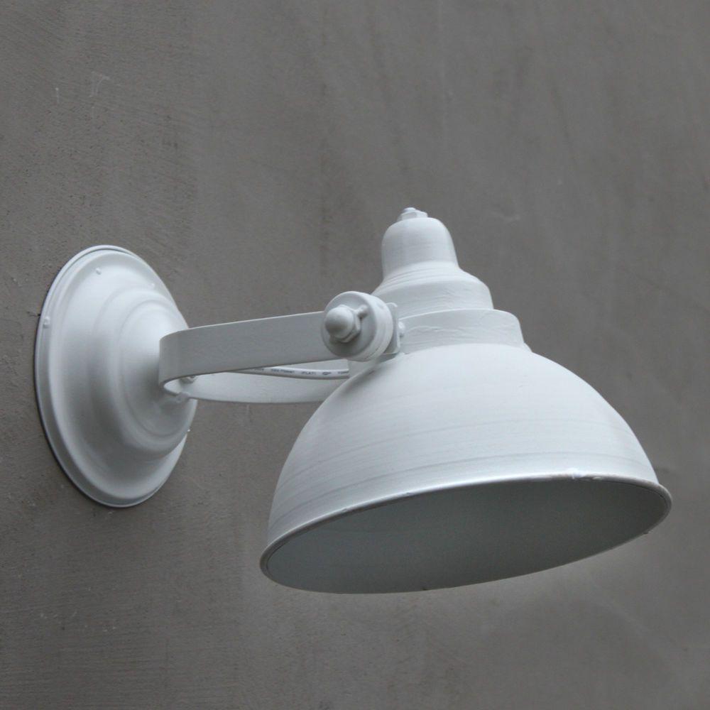 Retro Wandleuchte Weiss Vintage Wand Industrielampe Shabby Wandlampe Strahler Ebay Shabby Vintage Retro