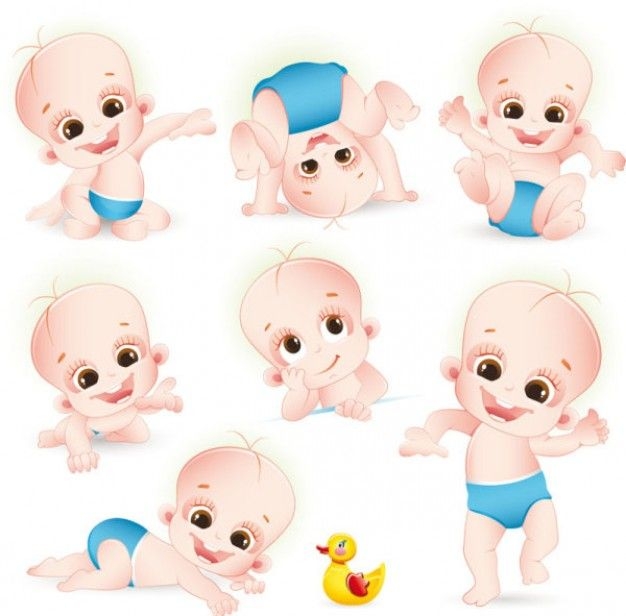 Cartoon Baby Vector 34 50124 Jpg 626 616 Píxeles Ilustración De Bebé Bebé Clipart Bebe En Camino Imagenes
