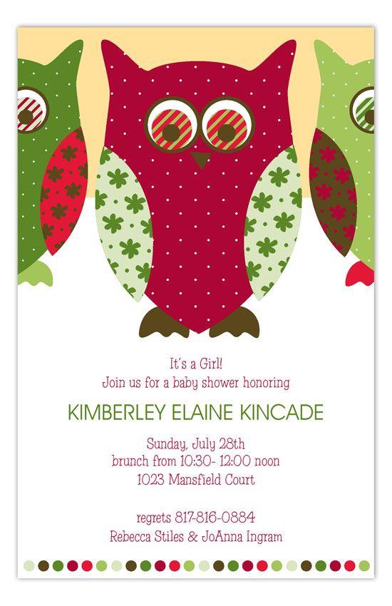 Christmas Owl Invitation