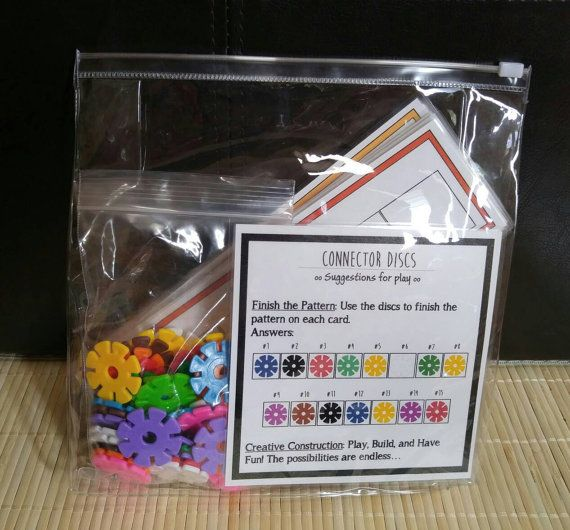 Check out this item in my Etsy shop https://www.etsy.com/listing/461417574/2-in-1-connectors-busy-bag-game-for-kids