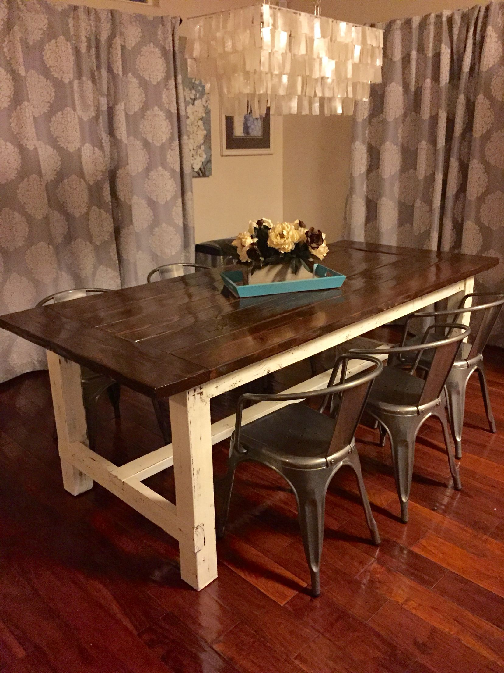 pin by nicole weesner on interior decorating farmhouse table kitchen table redo table on kitchen interior table id=86493