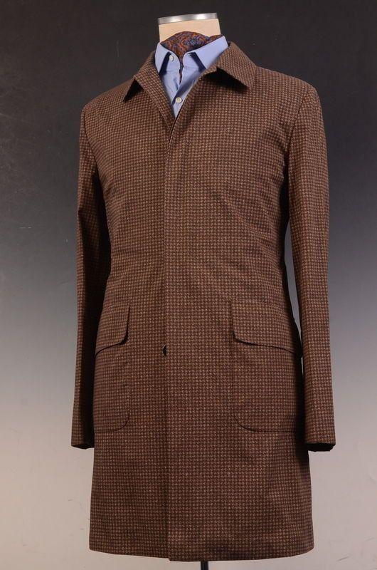"""KITON Napoli Made In Italy Brown Cotton """"CIPA 1960"""" Jacket Coat 48 NEW US 36 38"""