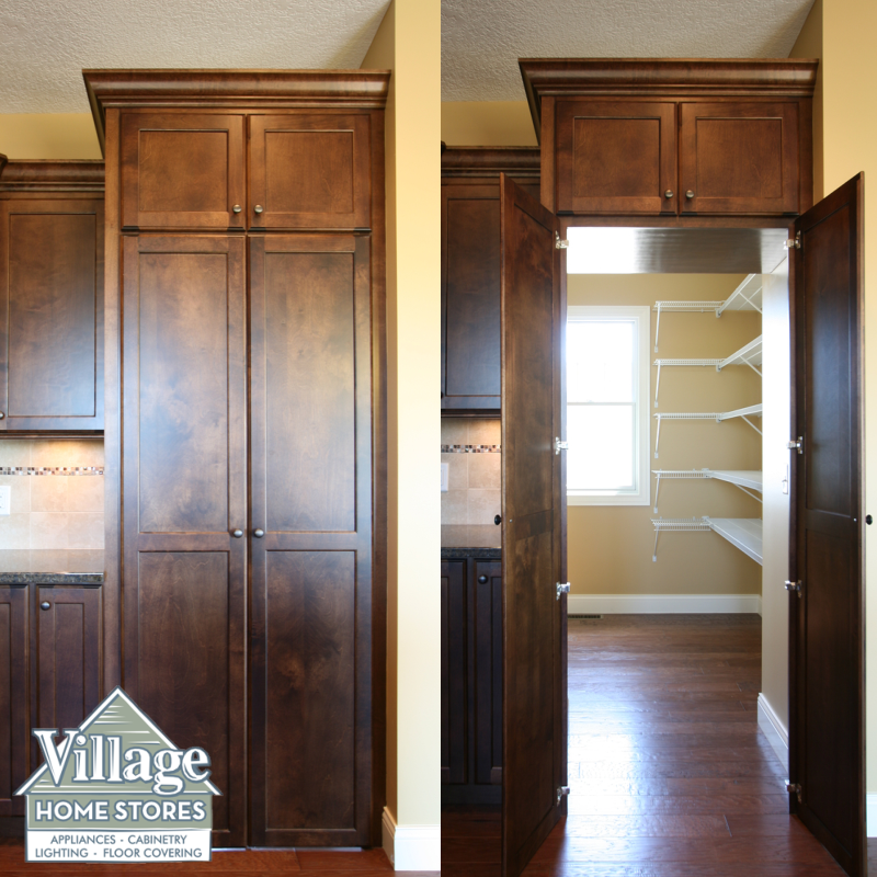 Kitchen Pantry Doors: A Walk Through Pantry Front Offers A Seamless Look Within