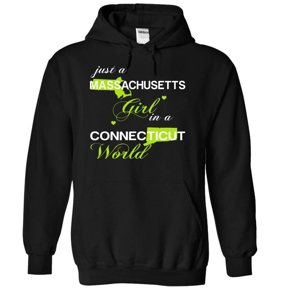 Just A Massachusetts Girl In A Connecticut World T-Shirts, Hoodies. Get It Now ==> https://www.sunfrog.com/Valentines/-28MAJustXanhChuoi001-29-Just-A-Massachusetts-Girl-In-A-Connecticut-World-Black-Hoodie.html?id=41382