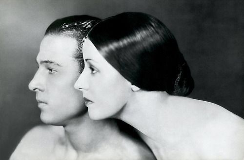 Report as spam Rudolph Valentino with his wife Natacha Rambova, photographed by James Abbe