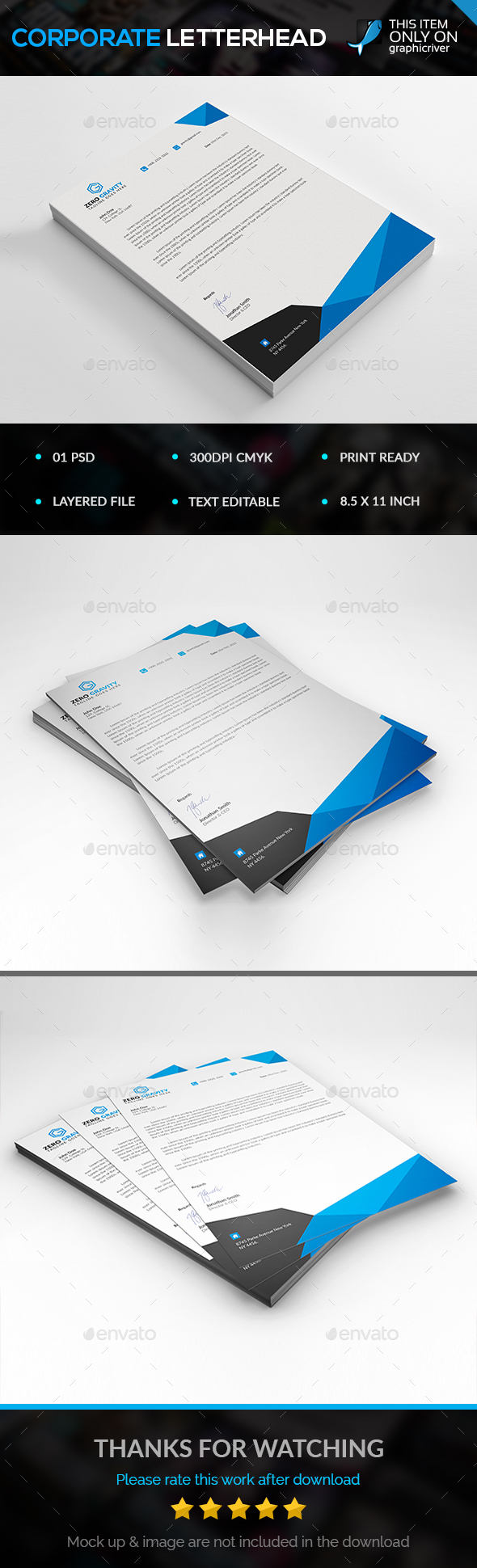 Corporate letterhead letterhead template template and corporate letterhead spiritdancerdesigns Choice Image