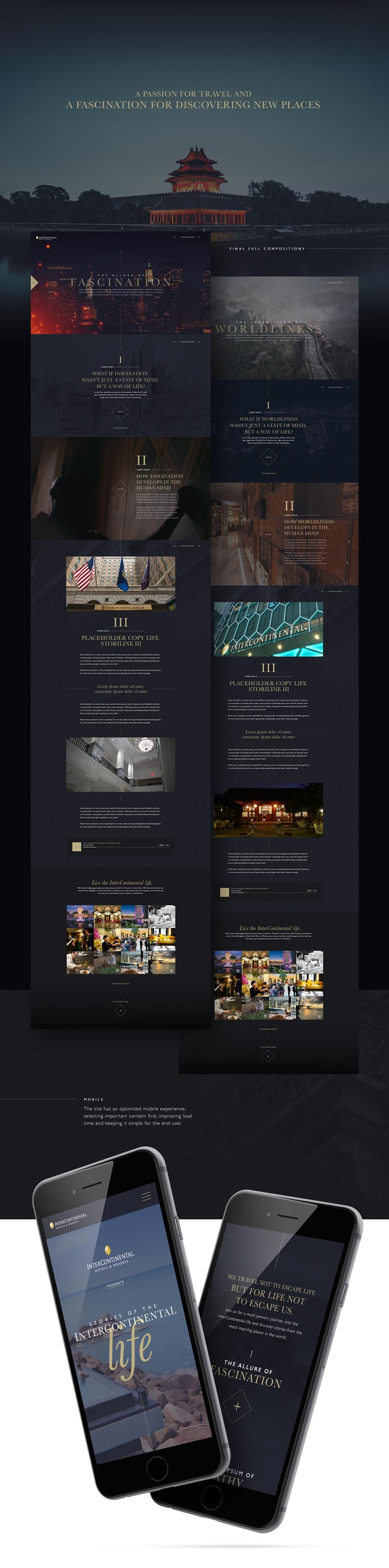 Intercontinental hotel website behance ui ux userexperience