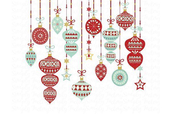 Vintage Christmas Ornament , Illustrations