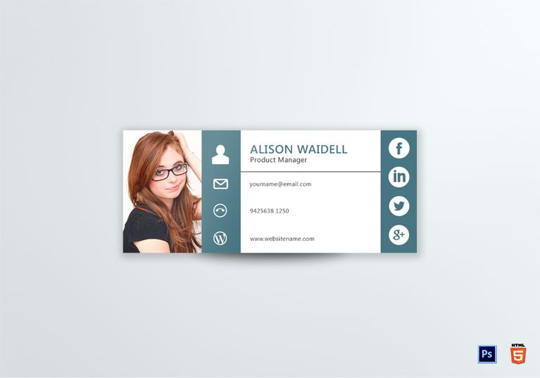 Product Manager Email Signature Template  Email Signature Templates
