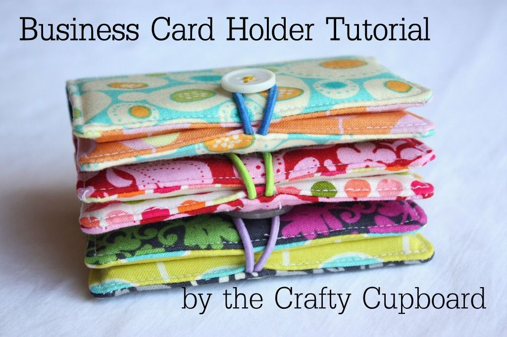 The Crafty Cupboard: How-To: Business Card Holder: I\'d make them ...